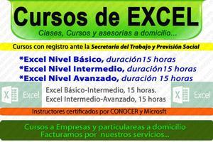 Clases y cursos de EXCEL