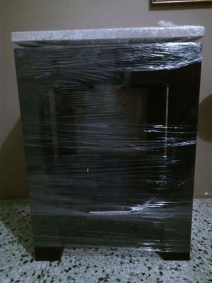 Lavabo imitacion granito con mueble de madera nuevos