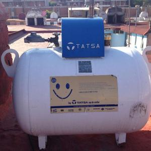 Tanque de gas estacionario