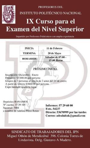 IX Curso para el Examen de Nivel Superior