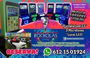 ROCKOLAS LA PAZ iPhone Brincolines Mesas y Sillas