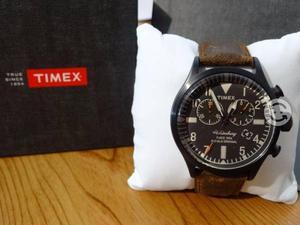 Reloj timex nuevo,correa vintage,cronograf,luz,in
