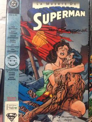 Cómic LA MUERTE DE SUPERMAN AUTOGRAFIADO