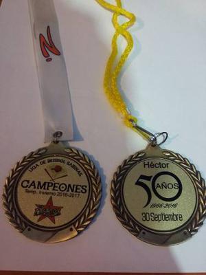 Medalla Metalica Personalizada Sublimada A Todo Color (009)