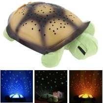 Lámpara De Noche Para Niños. Tortuga Proyecta Estrellas