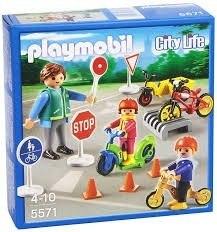 Playmobil  Niños Con Seguridad Vial Ciudad