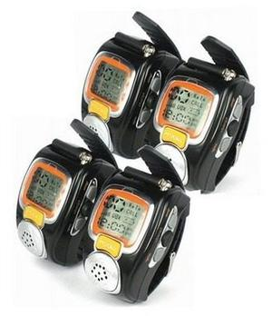 Walkie Talkie Radio Pulsera Reloj Digital, 2 Vías Y 4