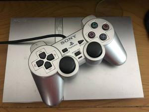 Playstation 2 Slim Platino Edicion Especial Ps2 Excelente Nc