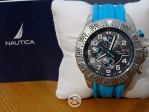Reloj nautica,crongorafo, original,fechador, azul