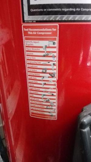 Compresor Husky pro 60 gal 7hp