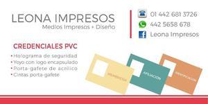 Credenciales PVC + Medios Impresos en Queretaro