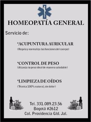 HOMEOPATÍA GENERAL