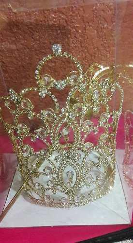 Hermosa Y Grande Corona Para Reina De Belleza Incluye Cetro