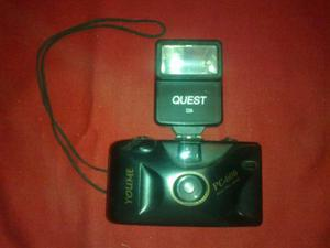 Camara Fotografica Youme Pc-606 Y Flash Quest 226