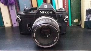 Cámara Nikon Em Con Lente Nikkor 50 Mm F/2.0