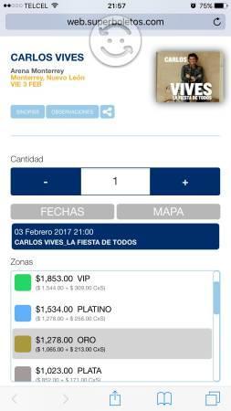 Concierto Carlos Vives 3febrero