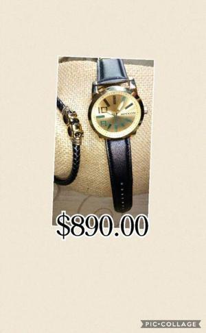 SET Reloj + Accesorio de Acero INOXIDABLE