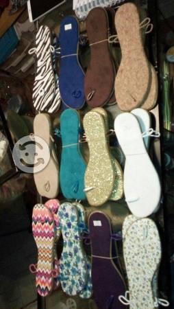 Suela sandalia para tejer o decorar con cristal