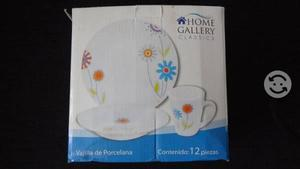 Vajilla de porcelana 12 pzs nueva home gallery