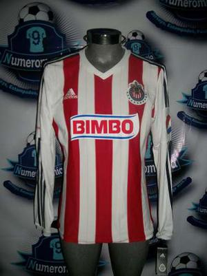 Jersey Chivas Local Adidas Original Manga Larga  Número