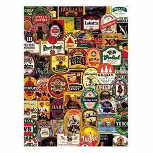 Aquarius Rompecabezas Etiquetas De Cervezas Famosas  Pzs