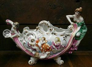 Centro de mesa antiguo de porcelana italiana