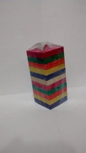 Jenga De Colores Juego De Madera Torre Mini