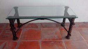 Remato hermosa y original mesa de centro hecha de viga de