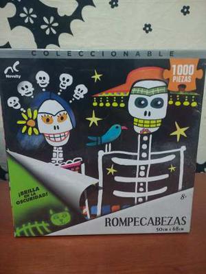 Rompecabezas pz Dia De Muertos, Catrina, Calaca, Frida