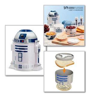 Star Wars R2d2 Bento Box Lonchera Porta Viandas