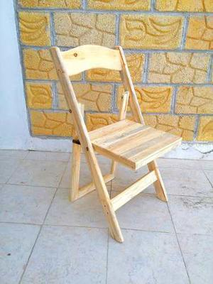 Silla Plegable De Madera Eventos Hasta 275 Mayoreo