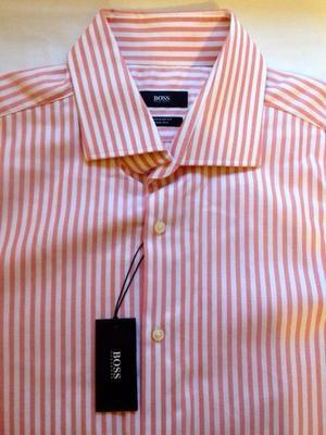 Camisa HUGO BOSS nueva original blanco/naranja