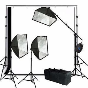 Kit De Iluminacion Estudio Fotografico Softbox Fotografia