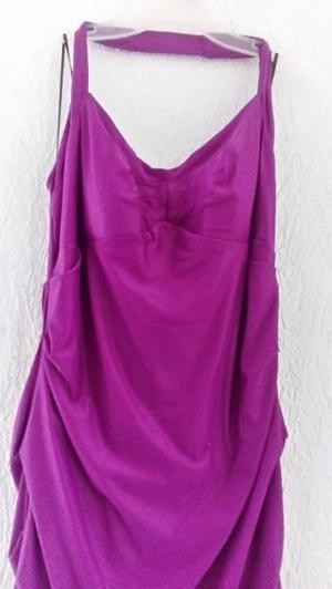 Vestido de fiesta color fiusha talla 11 largo