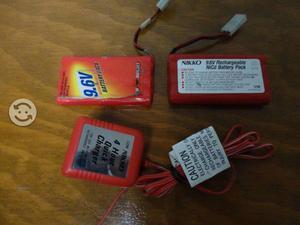 Batería 9.6V Recargable c/Cargador para Carros RC