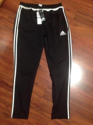 Pants Adidas Negro Con Rayas Blancas