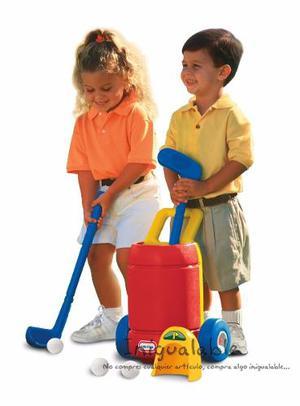 Set De Palos De Golf Para Niños Rojo Little Tikes