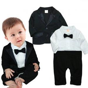 Mameluco Smoking Traje Para Bebé Con Saco