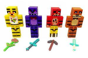 Minecraft Foxy Chica Bonnie Freddy Five Nights At Freddy's