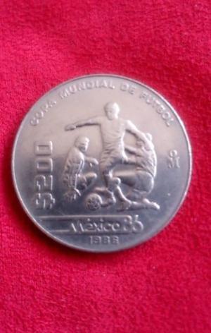 Moneda del Mundial de Futbol Mexico 86 d Coleccion