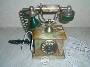 Telefono de disco de marmol clasico 50s
