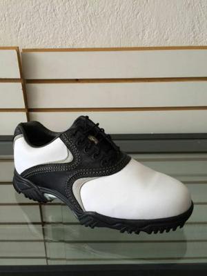 Zapato Foot Joy Contour Blanco Negro Gris Modelo