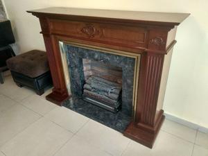 Chimenea de madera con calentador eléctrico