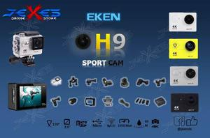 Cámara Deportiva Eken H9 4k Plta/blnca/ngr Wifi Accesorios!