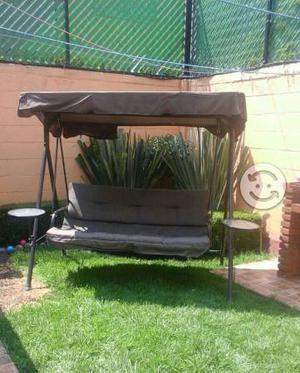 Sillon columpio metalico 3 personas para jardin posot class - Sillon columpio terraza ...