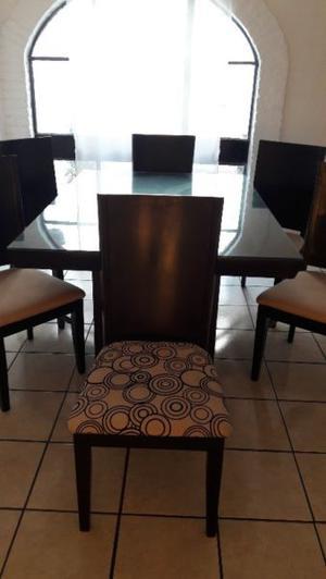 Comedor 2 mesas para 6 personas color maple 6 posot class for Comedor 2 personas