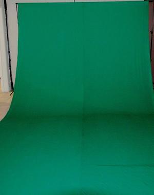 Fondo Fotográfico Ciclorama Verde Chroma 3x6m + Portafondos