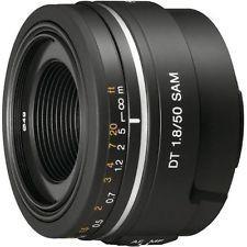 Lente Sony A 50mm. F1.8 Sam Para Cámara Sony Alpha Montura