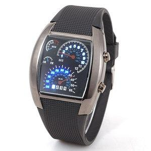 Lote 10 Reloj Led Aviation Tipo Velocímetro Novedoso