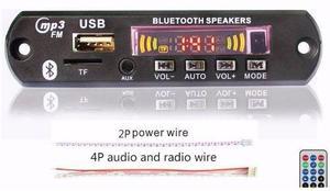 Modulo Reproductor De Audio Bluetooth, Micro Sd, Usb, Mp3